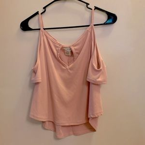Wet seal pink shoulder exposing top size small